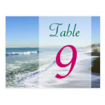 Ocean Shore Table Number Card Postcard