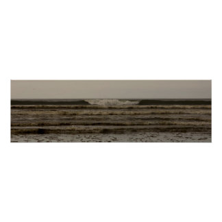 Ocean Shores, WA Waves Poster