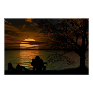 Ocean Silhouette poster