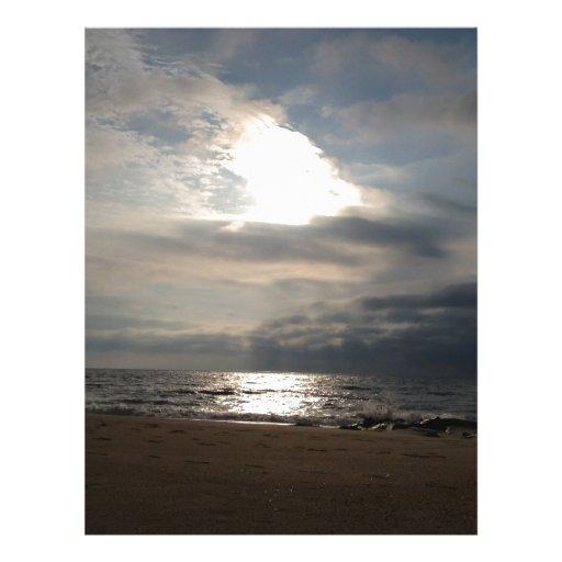 Ocean Sky Personalized Letterhead