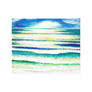 Ocean Sky Waves Serenity Turquoise Teal Blue-Green Canvas Print