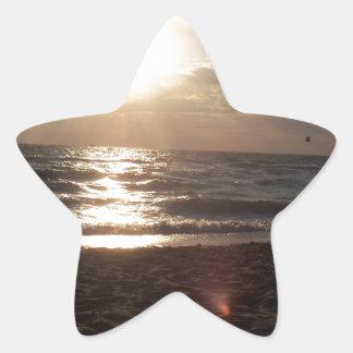 Ocean Skyline Star Sticker
