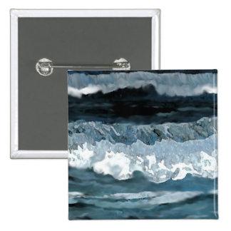 Ocean Sonata - CricketDiane Ocean Art 2 Inch Square Button