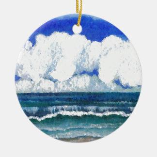 Ocean Sonata Sea Beach Summertime Art Ceramic Ornament
