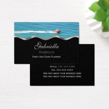 Professional Business Ocean Speed Boat Business Cards