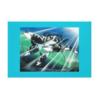 Ocean spirits stretch canvas