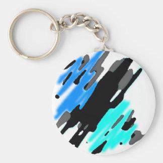 Ocean Splash Basic Round Button Keychain