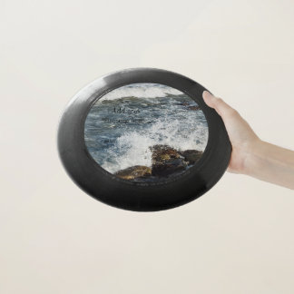Ocean splash frisbee add your message