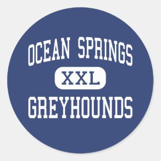 Ocean Springs - Greyhounds - High - Ocean Springs Classic Round Sticker