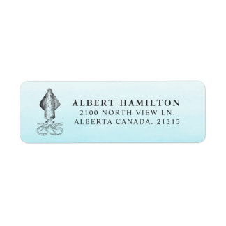 Ocean Squid | Personalized Return Address Label