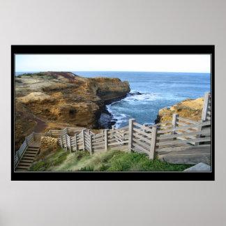 Ocean Stairway Poster