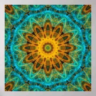 Ocean Star Mandala Poster