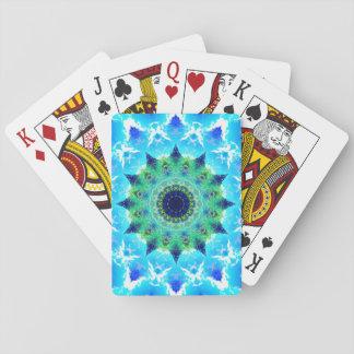 Ocean Star Waves Mandala Playing Cards