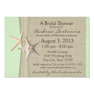 Ocean Starfish Bridal Shower Card