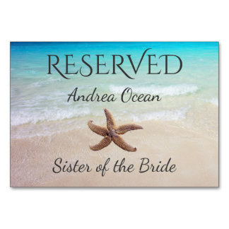 Ocean Starfish Reserved Wedding Seating Card