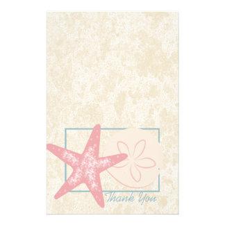 Ocean Starfish Thank You Custom Stationery