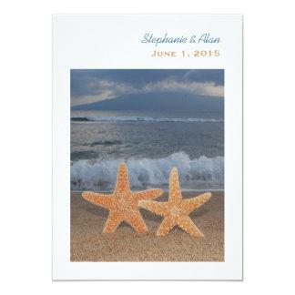 "Ocean Starfish Wedding Invitation 5"" X 7"" Invitation Card"