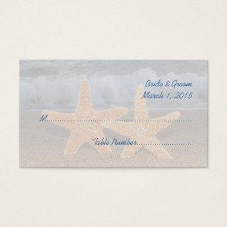 Ocean Starfish Wedding Place Cards