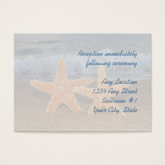 Ocean Starfish Wedding Reception Cards