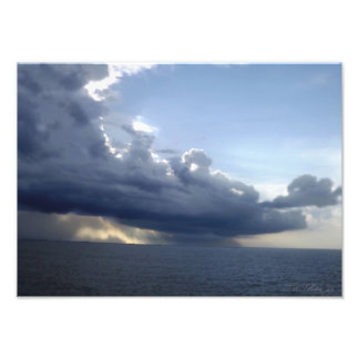 Ocean Storm Front Photographic Print