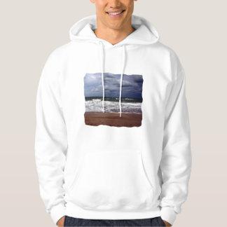 Ocean Storm Photograph From Florida Hooded Sweatshirts