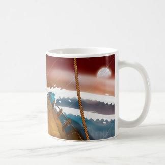 Ocean Storm Sail Ship Coffee Mug