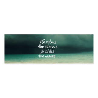 Ocean Storm with God Quote Pack Of Skinny Business Cards