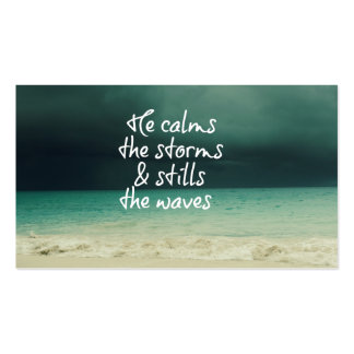 Ocean Storm with God Quote Pack Of Standard Business Cards