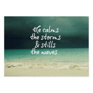 Ocean Storm with God Quote Pack Of Chubby Business Cards