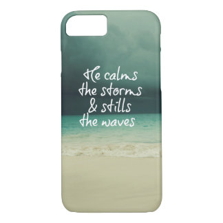 Ocean Storm with God Quote iPhone 8/7 Case