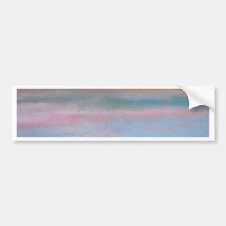Ocean Summer Breeze Sunset Soft Pastels Bumper Sticker