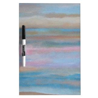 Ocean Summer Breeze Sunset Soft Pastels Dry-Erase Whiteboards