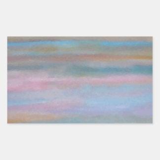 Ocean Summer Breeze Sunset Soft Pastels Rectangular Sticker