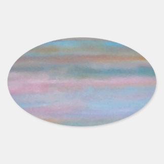 Ocean Summer Breeze Sunset Soft Pastels Sticker