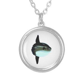 Ocean Sunfish - Mola Mola Round Pendant Necklace