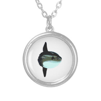 Ocean Sunfish - Mola Mola Silver Plated Necklace