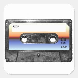Ocean Sunrise Cassette Stickers