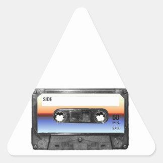Ocean Sunrise Cassette Triangle Sticker