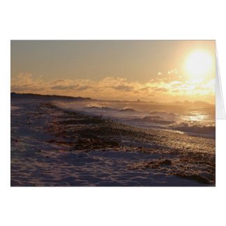 Ocean Sunrise Christmas Card