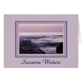 Ocean Sunrise Notecard Greeting Card