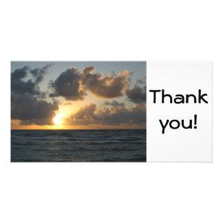 Ocean sunrise photo greeting card