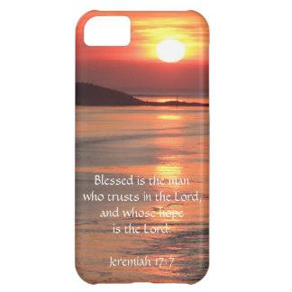 Ocean Sunrise, w/ Scripture Verse (Jeremiah 17:7) iPhone 5C Cover