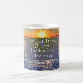 Ocean Sunrise with Psalms Bible Verse Coffee Mug