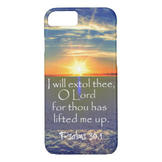 Ocean Sunrise with Psalms Bible Verse iPhone 8/7 Case