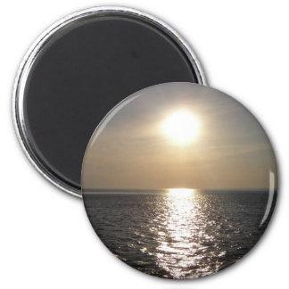 Ocean Sunset 2 2 Inch Round Magnet