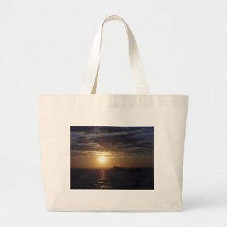 Ocean Sunset 3 Jumbo Tote Bag
