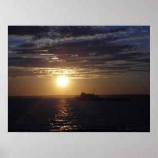 Ocean Sunset 3 Poster