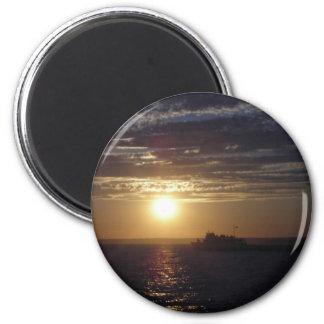 Ocean Sunset 3 Refrigerator Magnet