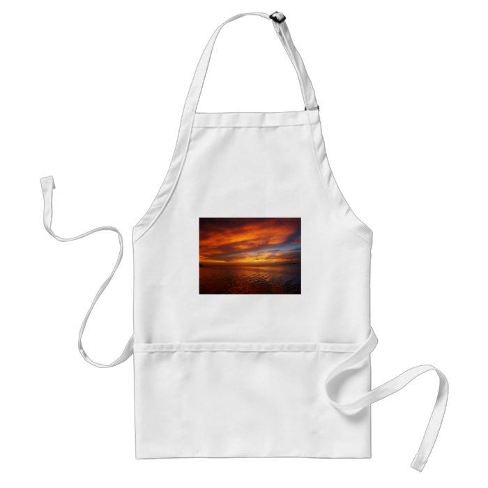 Ocean sunset adult apron