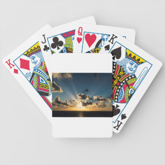 Ocean Sunset Bicycle Playing Cards